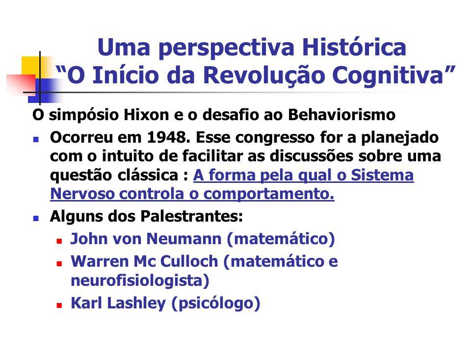 Uma perspectiva Histórica O Início da Revolução Cognitiva