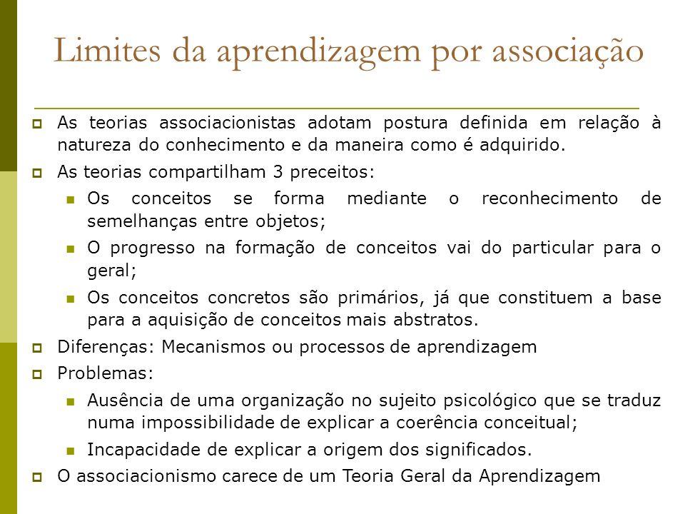 Limites da aprendizagem por associação