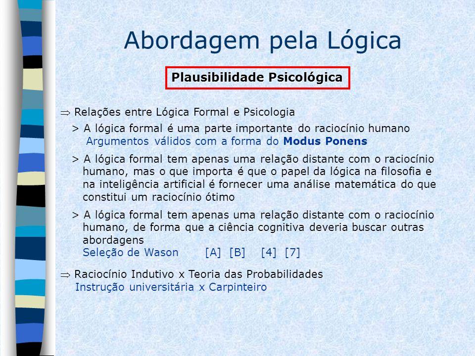 Abordagem pela Lógica Plausibilidade Psicológica