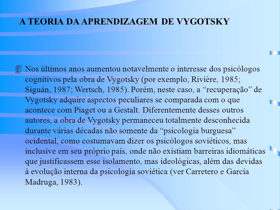 A TEORIA DA APRENDIZAGEM DE VYGOTSKY