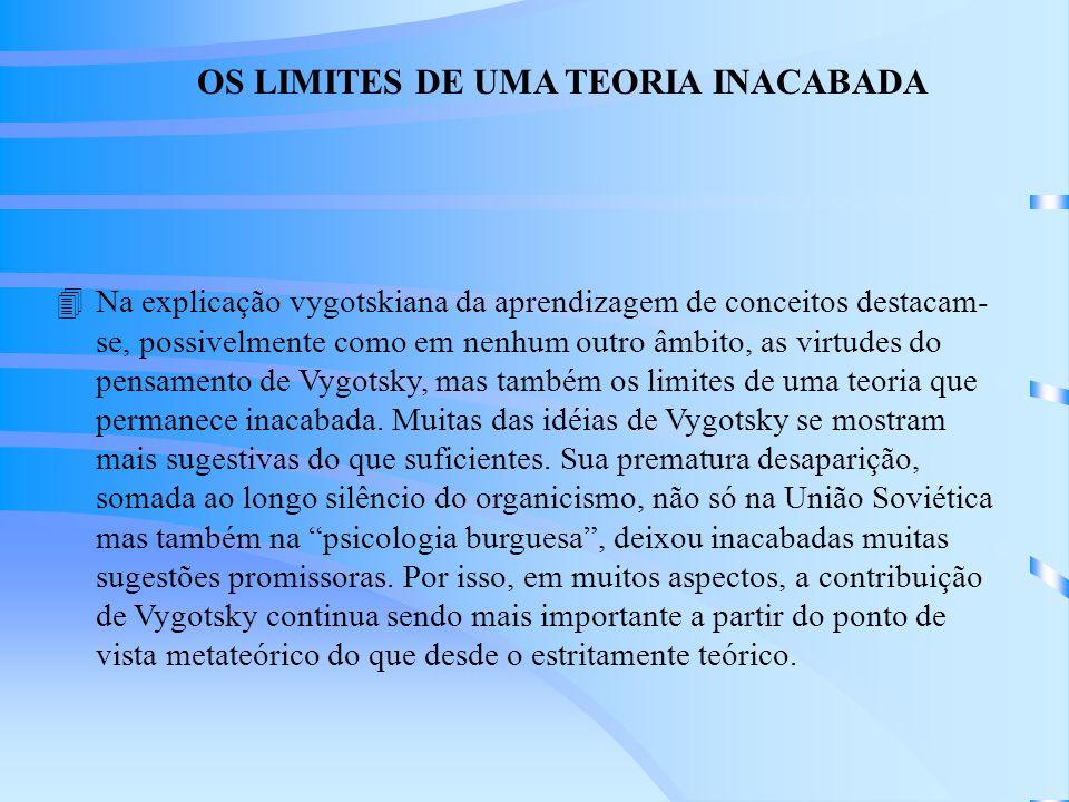 OS LIMITES DE UMA TEORIA INACABADA