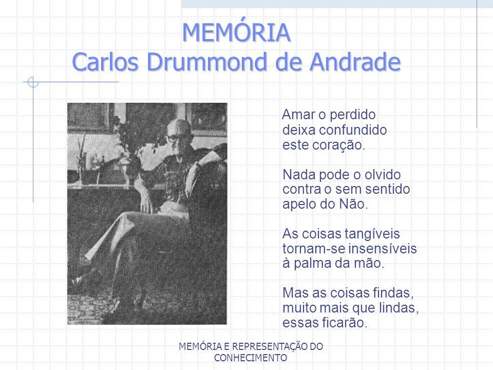 MEMÓRIA Carlos Drummond de Andrade