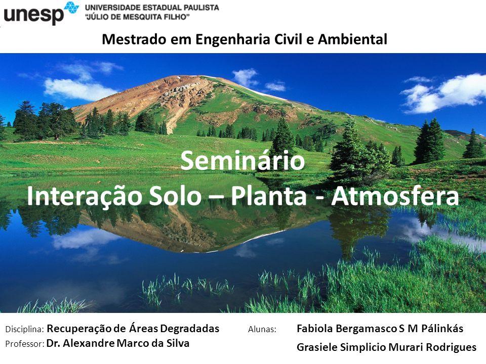 Integração Solo Planta e Atmosfera