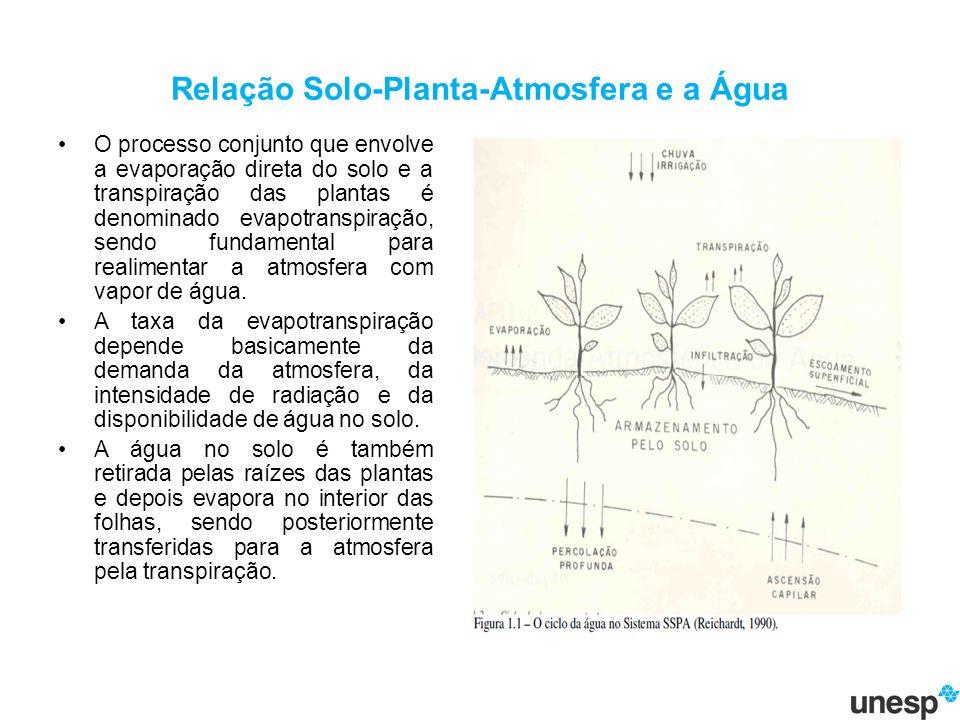 Relação Solo-Planta-Atmosfera e a Água