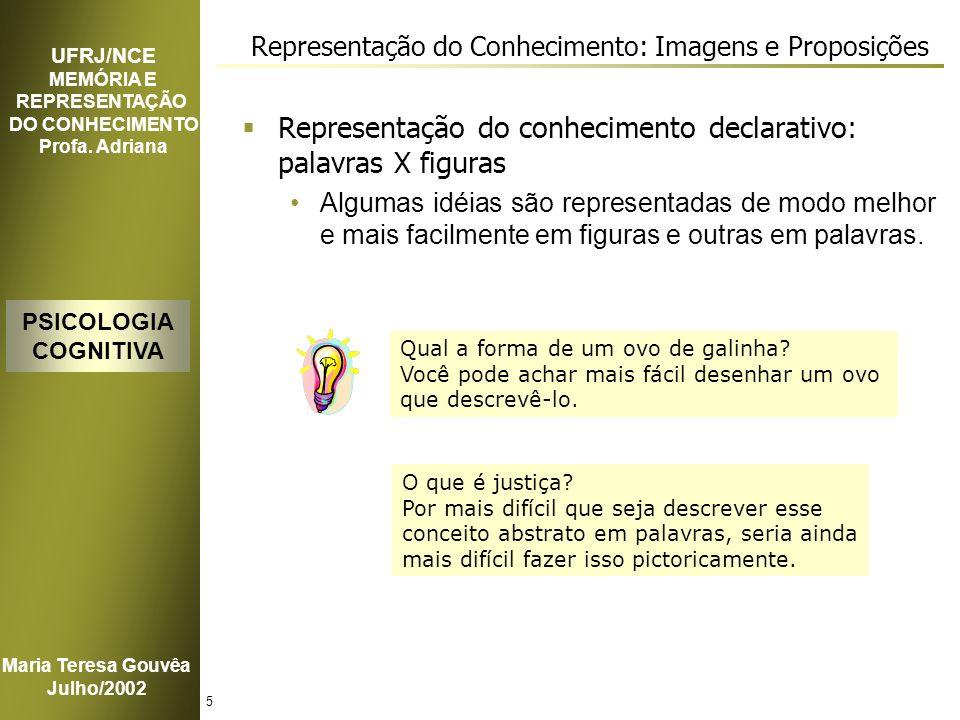 Representação do Conhecimento: Imagens e Proposições