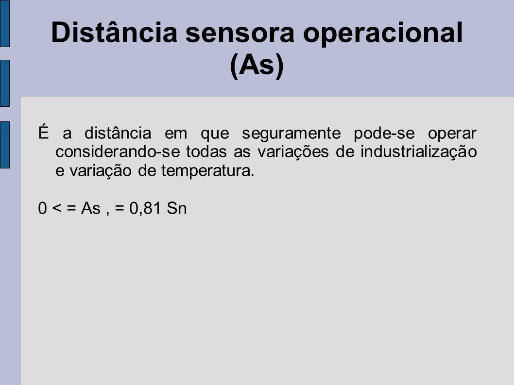 Distância sensora operacional (As)