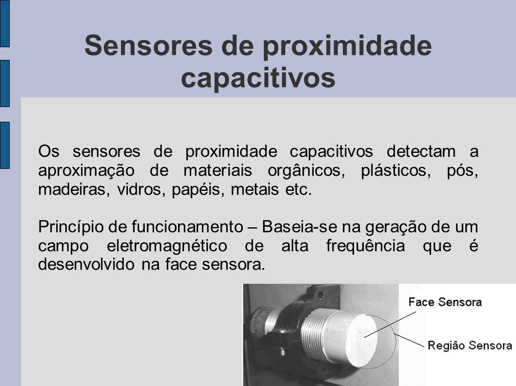 Sensores de proximidade capacitivos