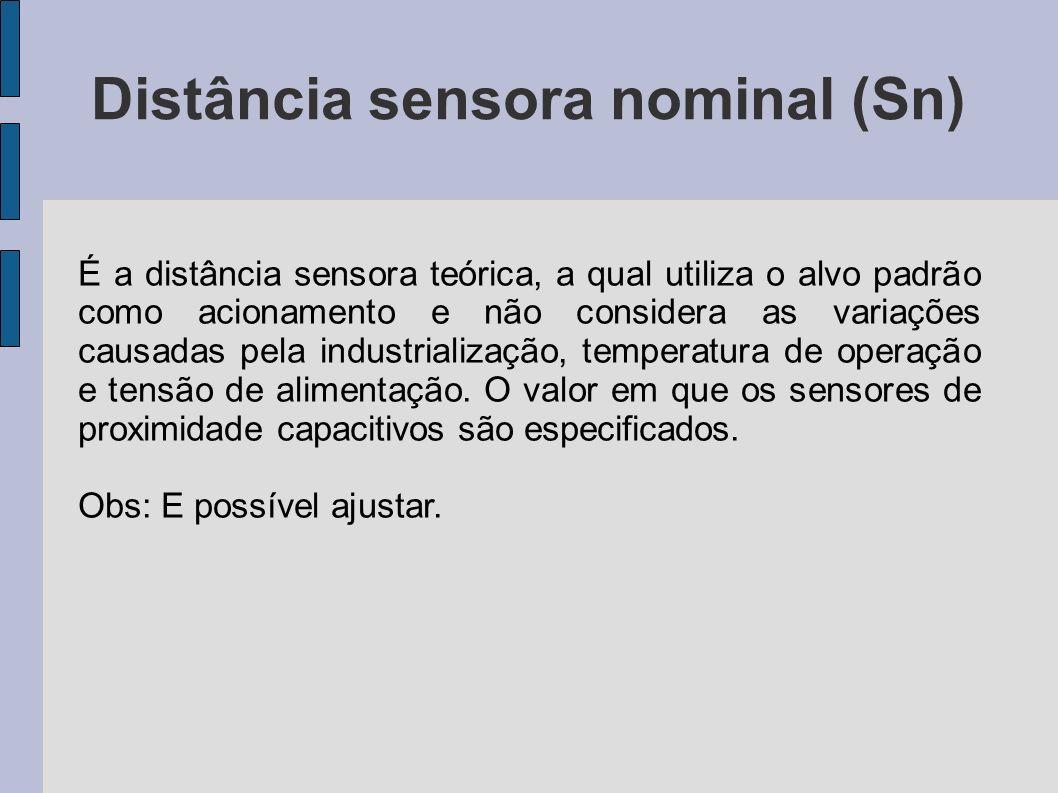 Distância sensora nominal (Sn)