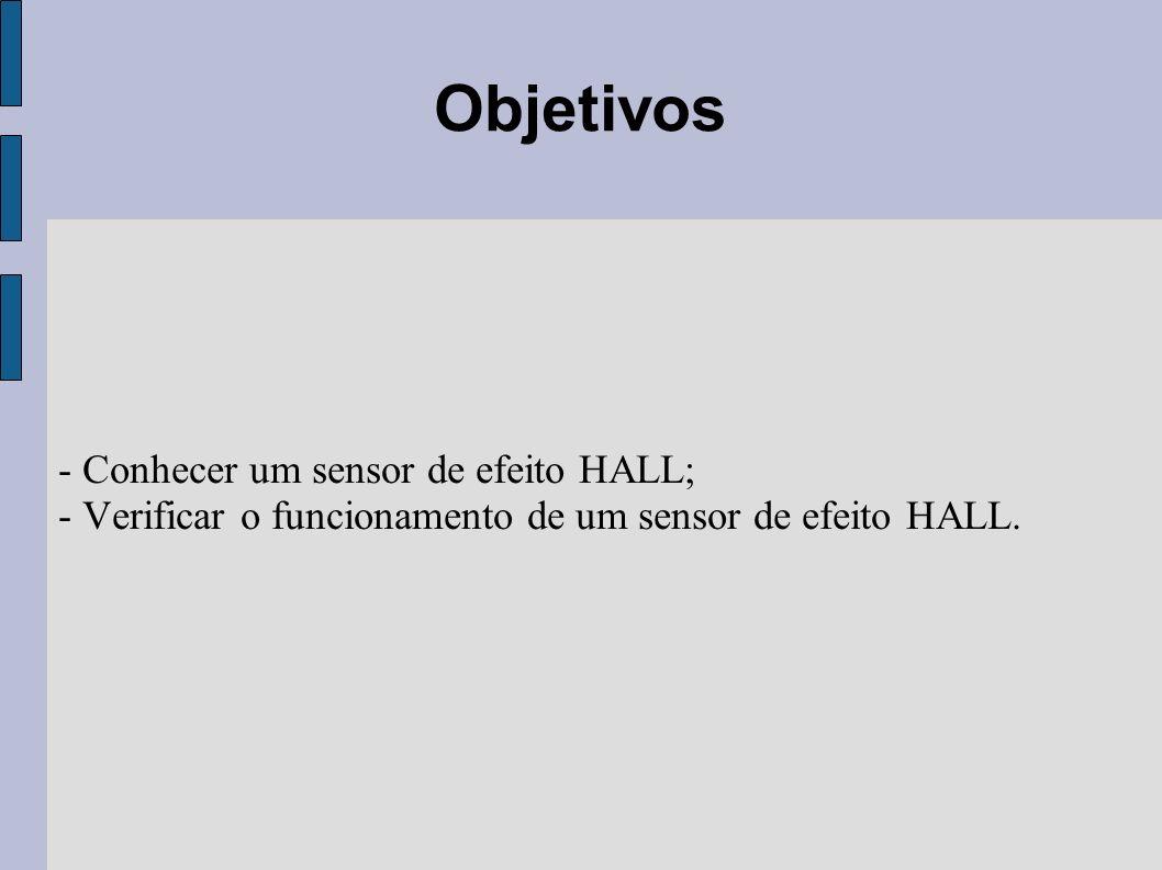 Objetivos - Conhecer um sensor de efeito HALL;