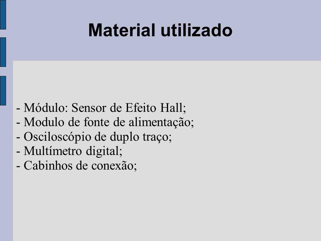 Material utilizado - Módulo: Sensor de Efeito Hall;