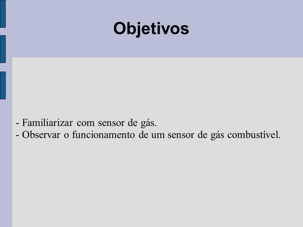 Objetivos - Familiarizar com sensor de gás.