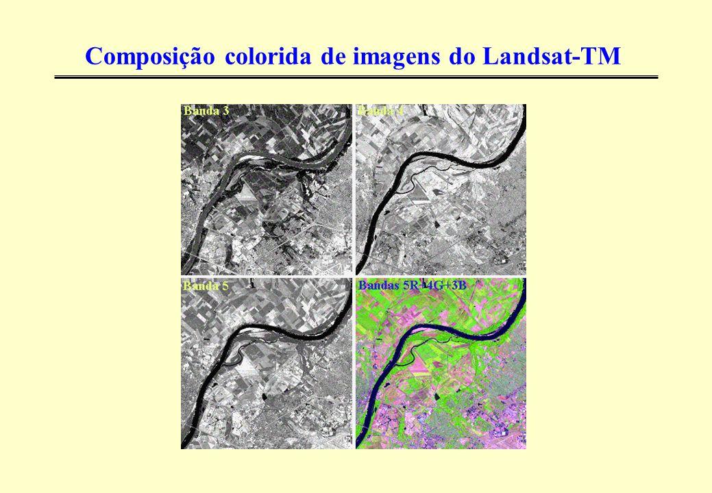 Composição colorida de imagens do Landsat-TM