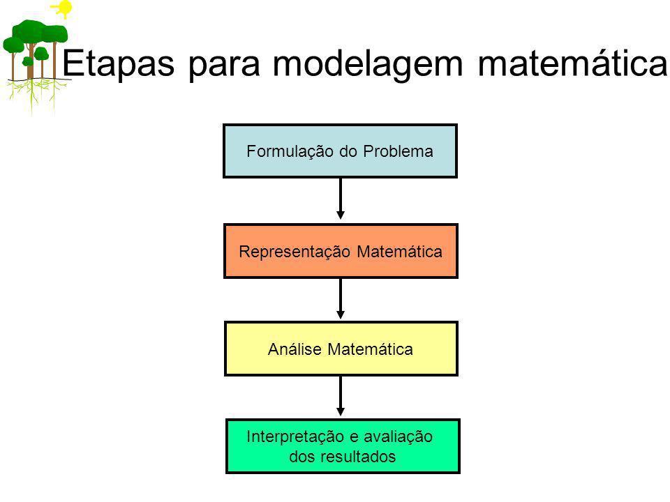 Etapas para modelagem matemática