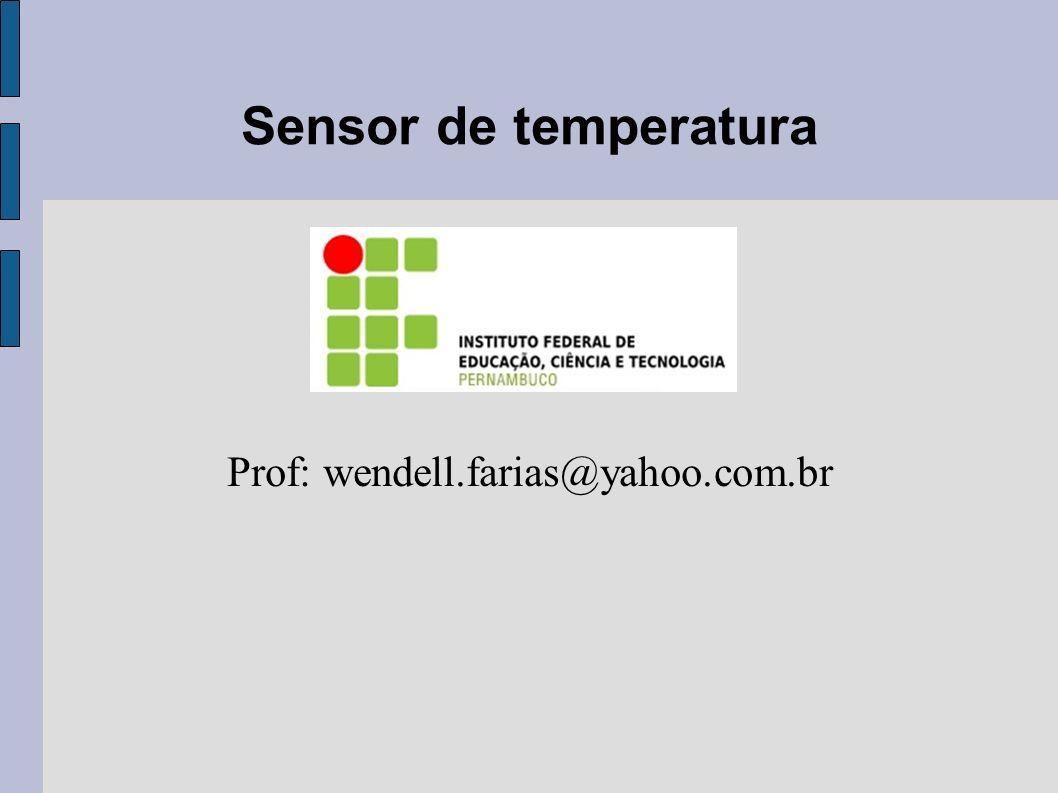Prof: wendell.farias@yahoo.com.br