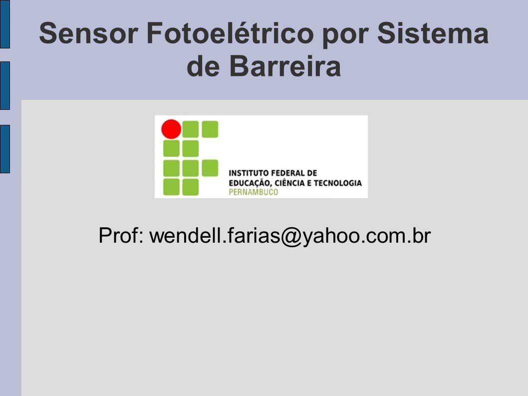 Sensor Fotoelétrico por Sistema de Barreira