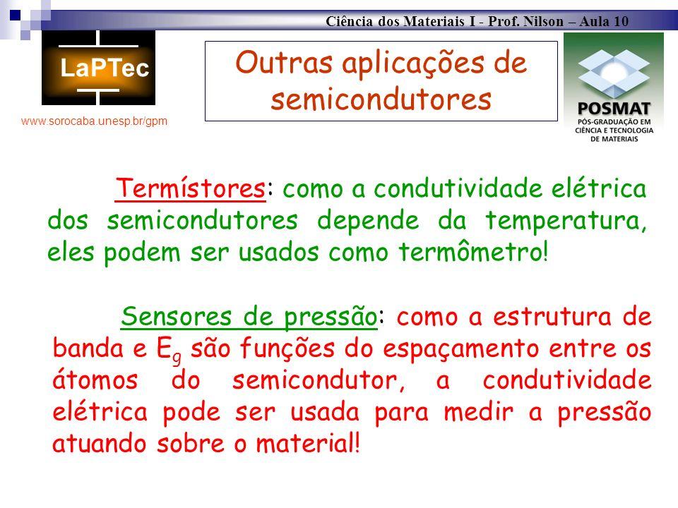 Outras aplicações de semicondutores
