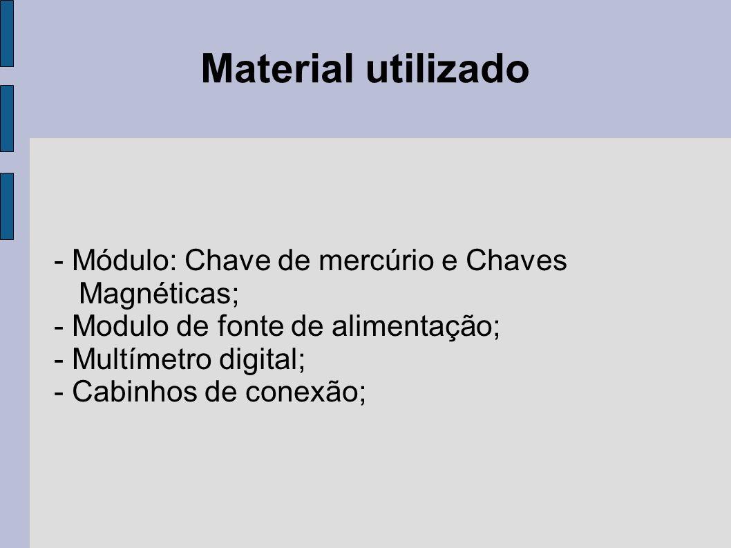 Material utilizado - Módulo: Chave de mercúrio e Chaves Magnéticas;