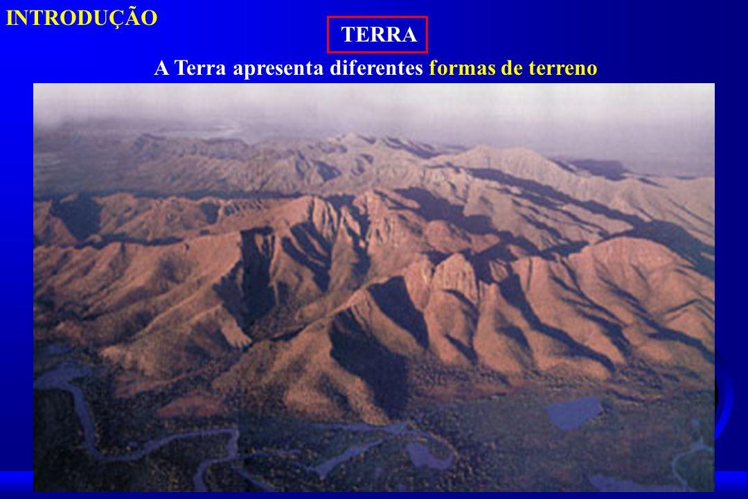 INTRODUÇÃO TERRA A Terra apresenta diferentes formas de terreno