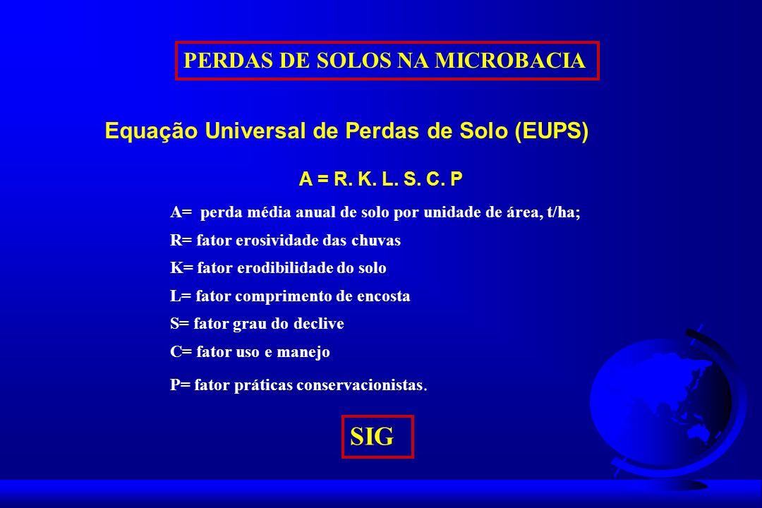 SIG PERDAS DE SOLOS NA MICROBACIA