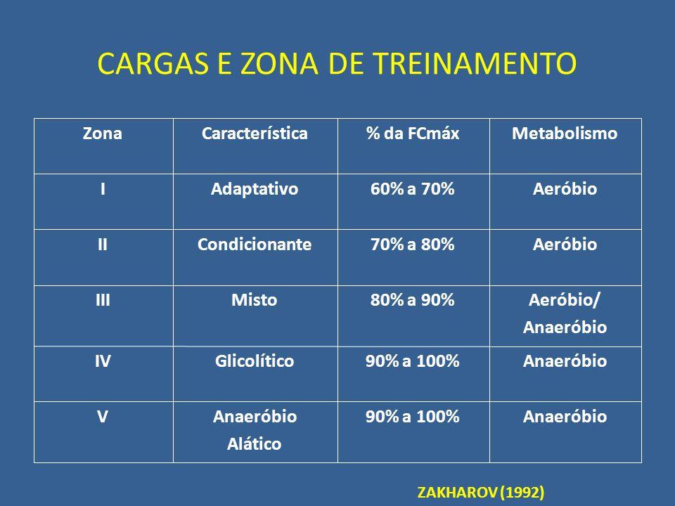 CARGAS E ZONA DE TREINAMENTO