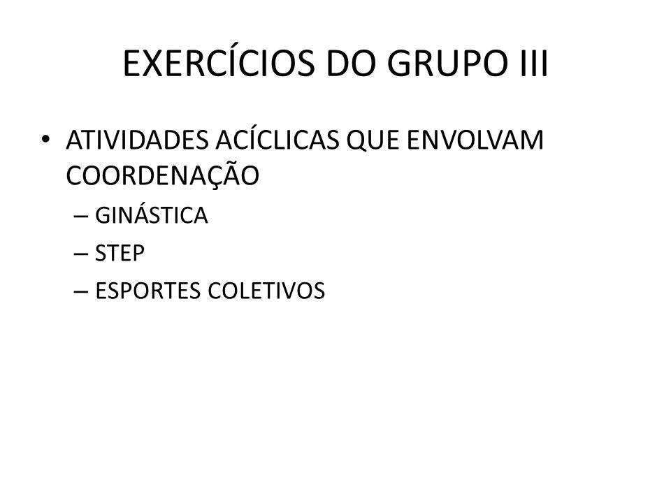 EXERCÍCIOS DO GRUPO III