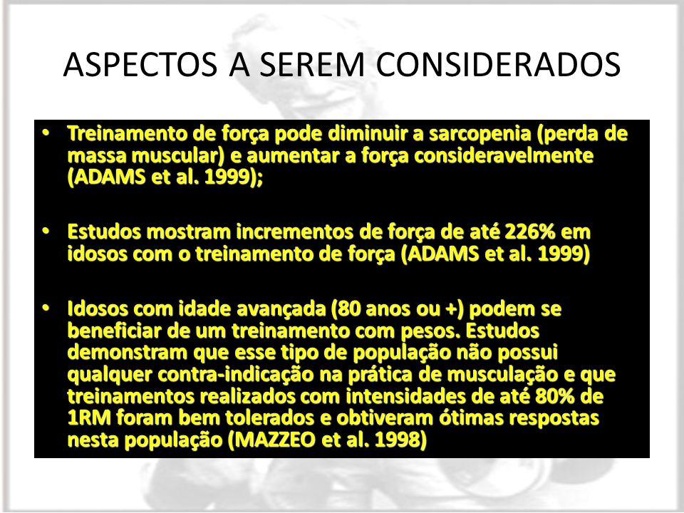 ASPECTOS A SEREM CONSIDERADOS