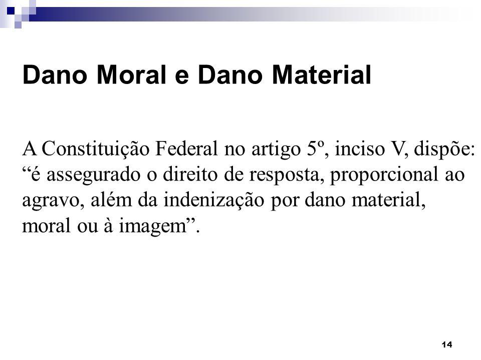 Dano Moral e Dano Material