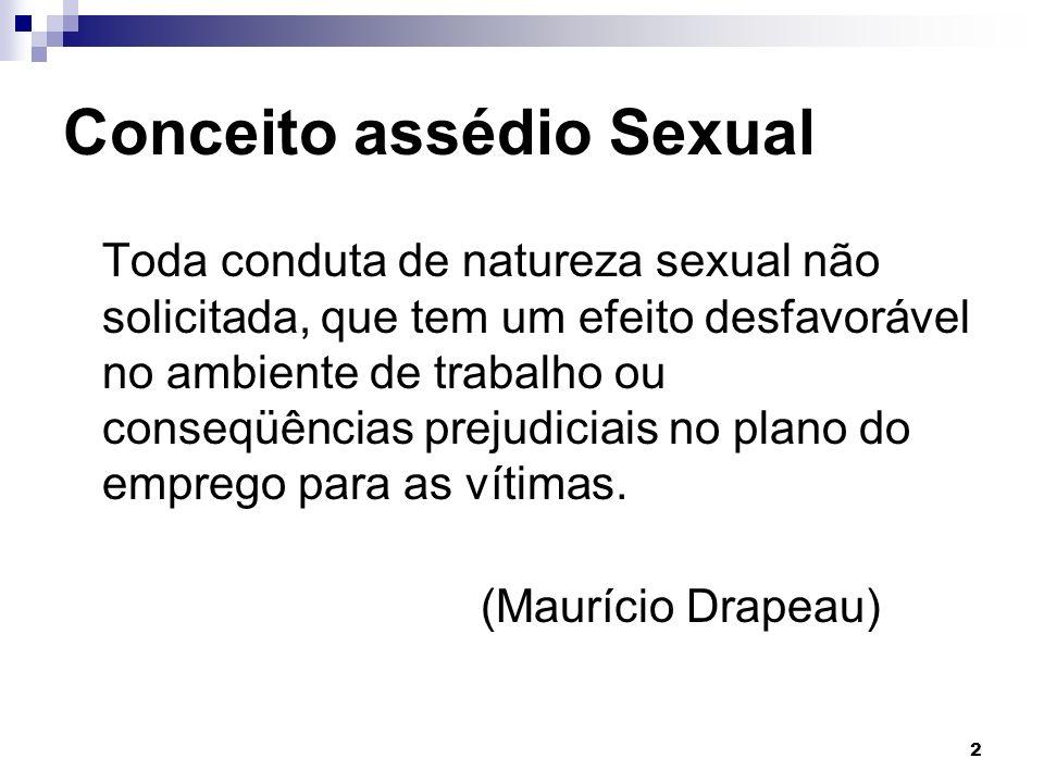 Conceito assédio Sexual