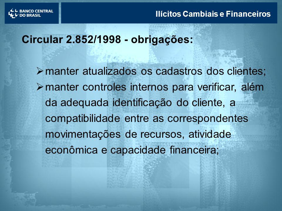 Circular 2.852/1998 - obrigações:
