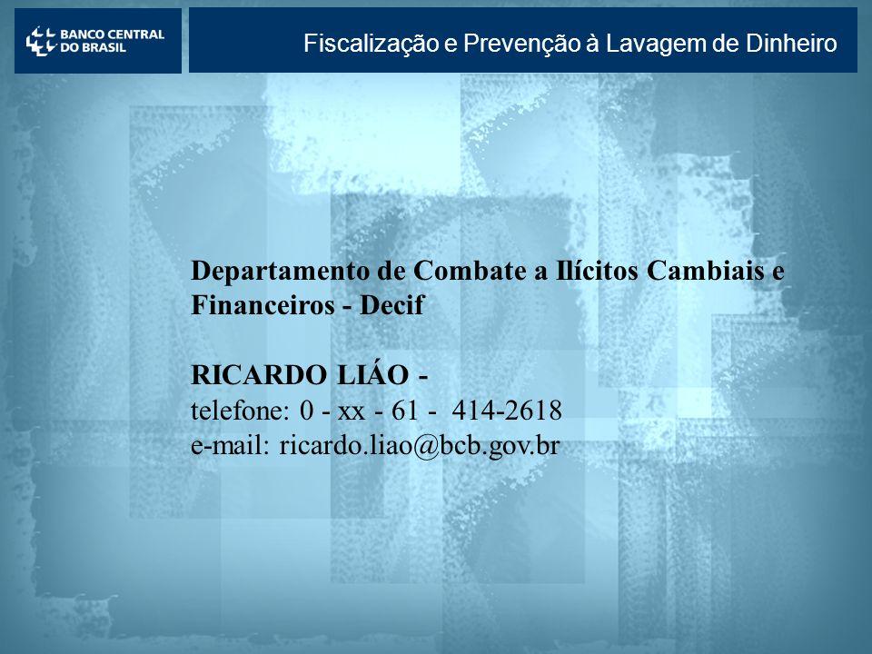 Departamento de Combate a Ilícitos Cambiais e Financeiros - Decif
