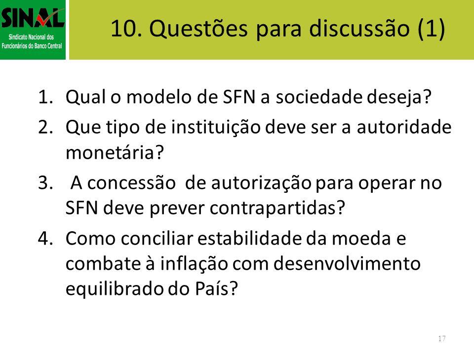 10. Questões para discussão (1)