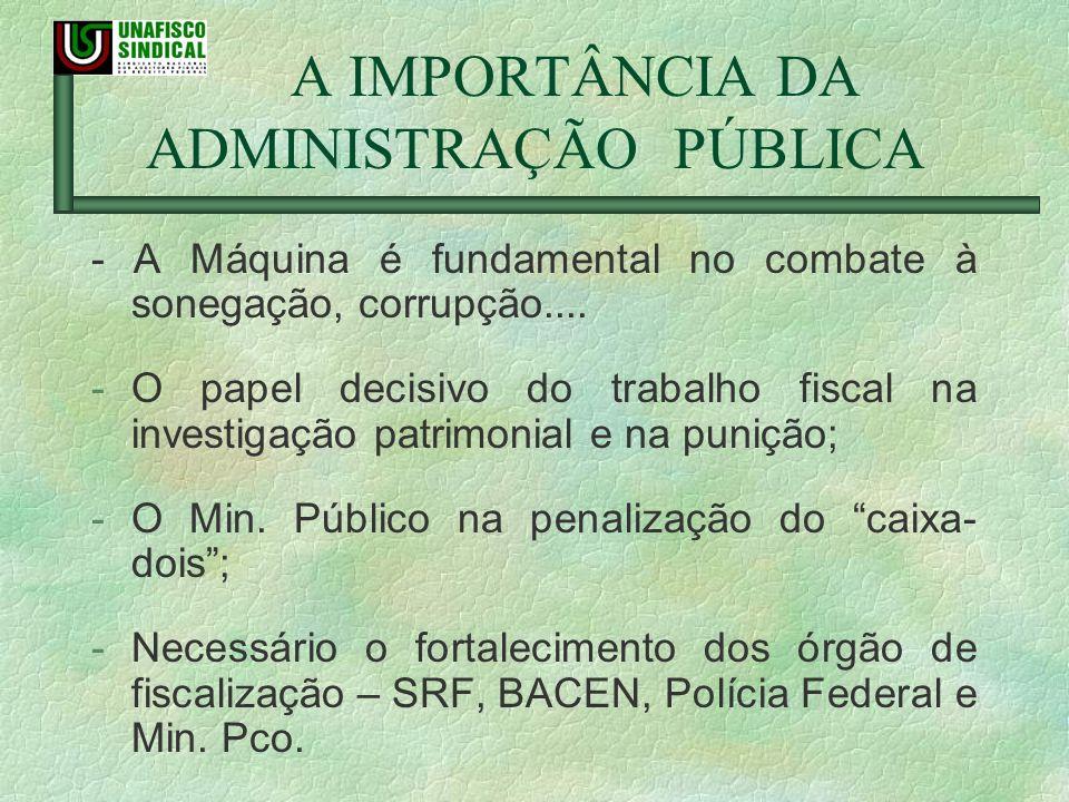 A IMPORTÂNCIA DA ADMINISTRAÇÃO PÚBLICA