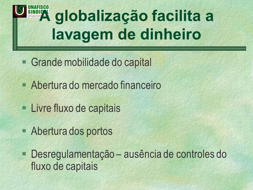 A globalização facilita a lavagem de dinheiro