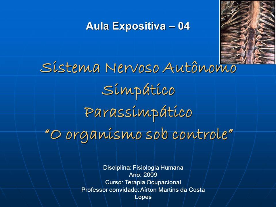 Sistema Nervoso Autônomo O organismo sob controle