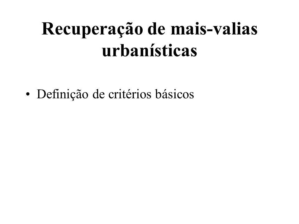Recuperação de mais-valias urbanísticas