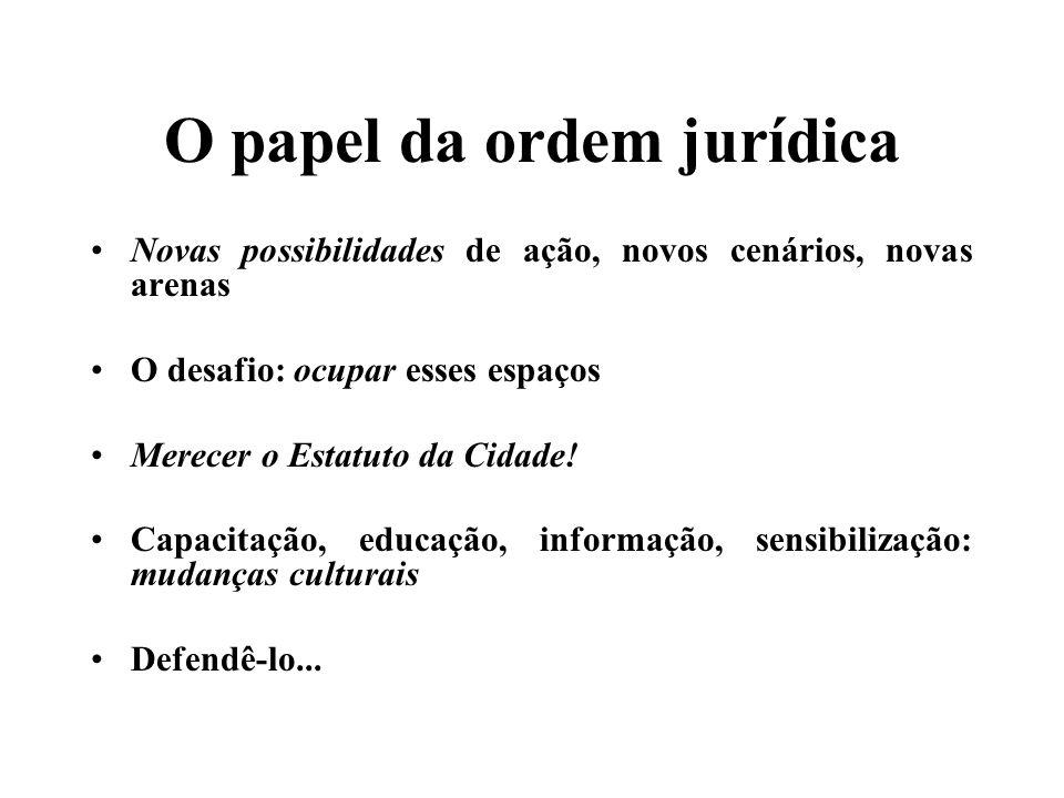 O papel da ordem jurídica