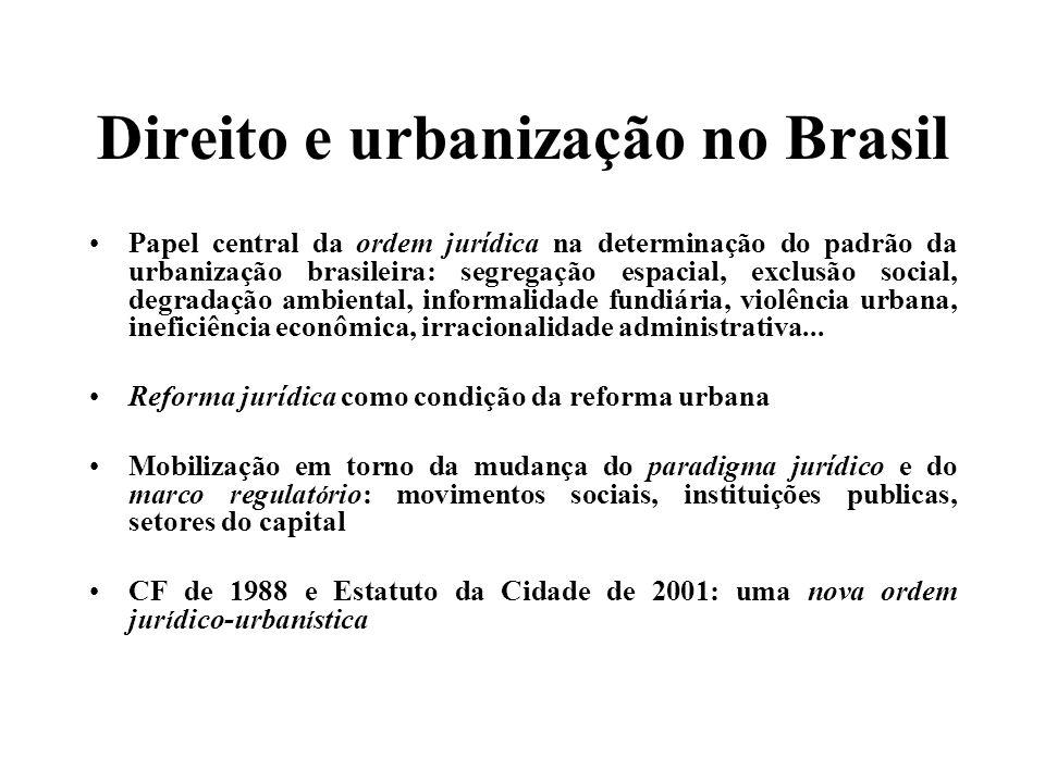 Direito e urbanização no Brasil