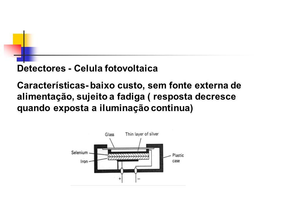 Detectores - Celula fotovoltaica