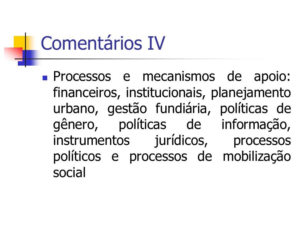 Comentários IV