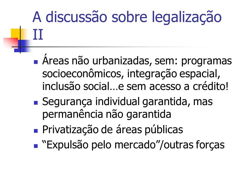 A discussão sobre legalização II
