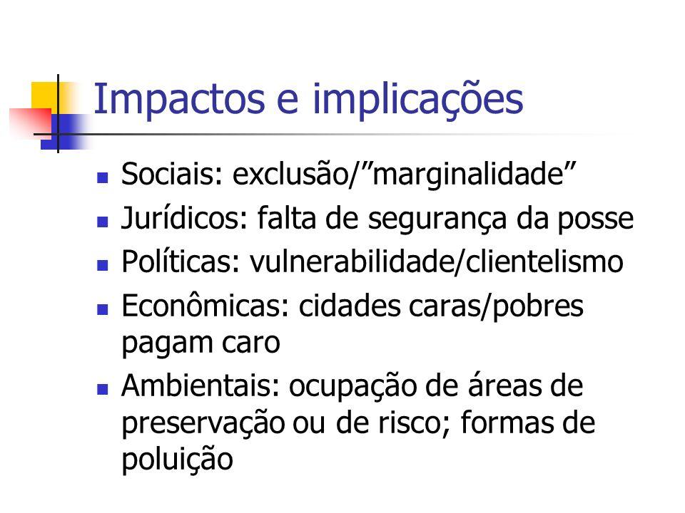 Impactos e implicações