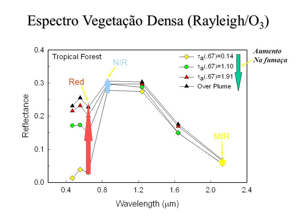 Espectro Vegetação Densa (Rayleigh/O3)