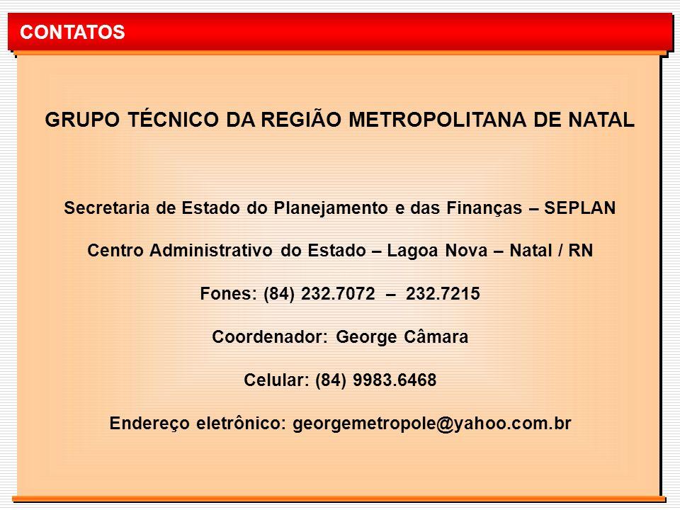 GRUPO TÉCNICO DA REGIÃO METROPOLITANA DE NATAL
