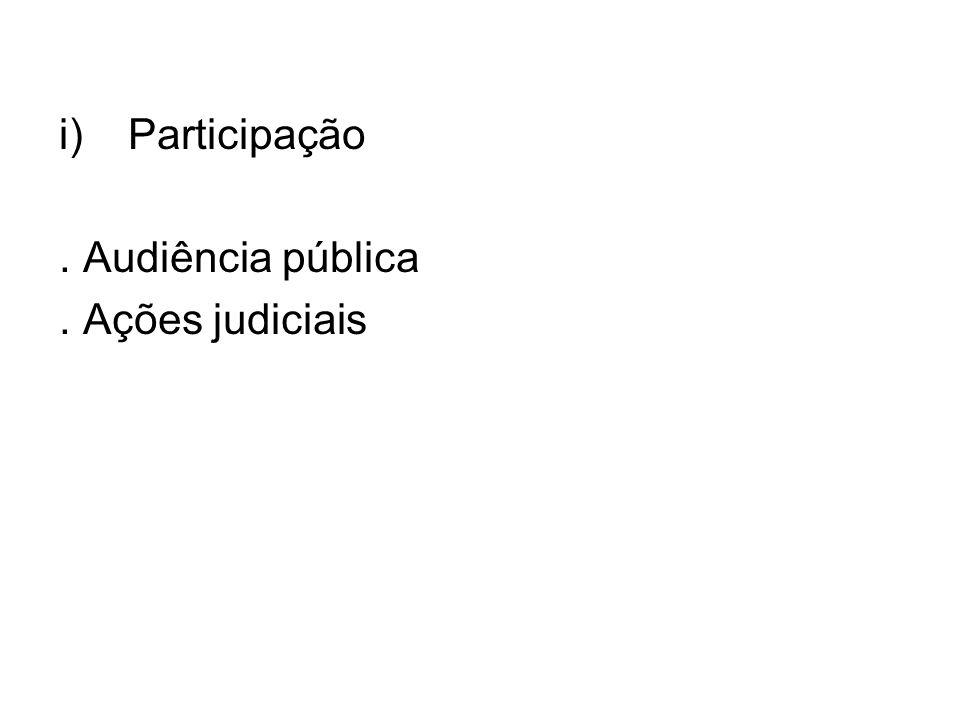 Participação . Audiência pública . Ações judiciais