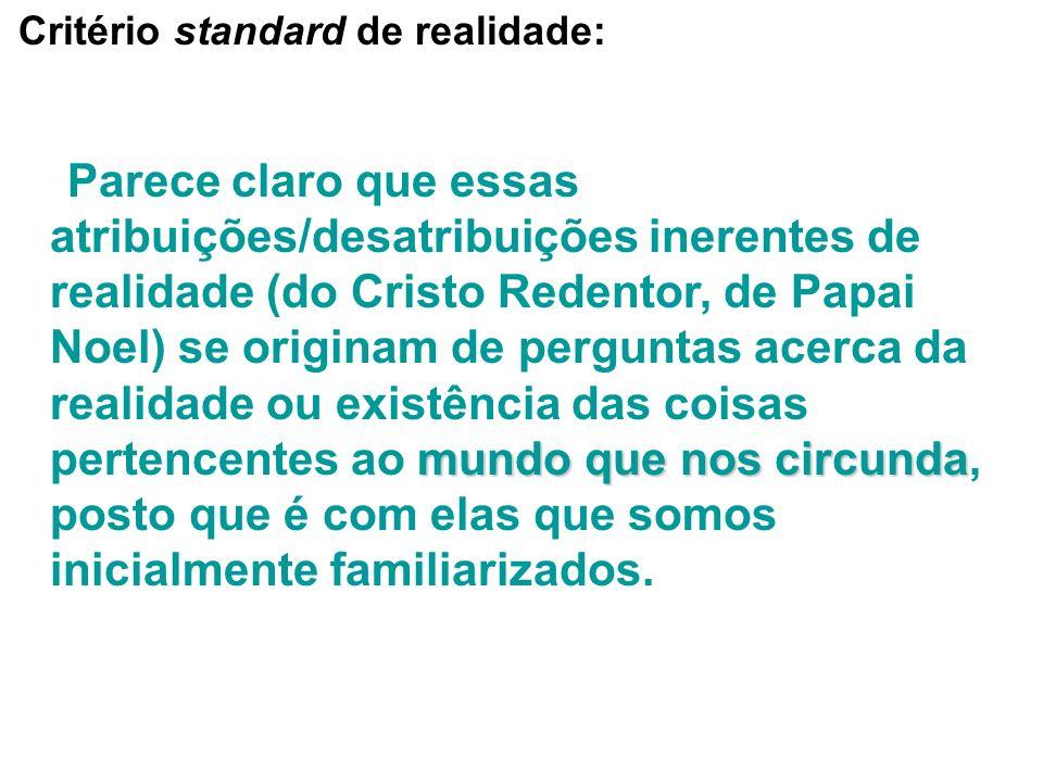 Critério standard de realidade: