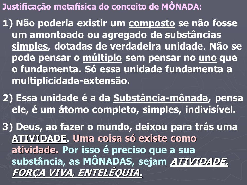 Justificação metafísica do conceito de MÔNADA: