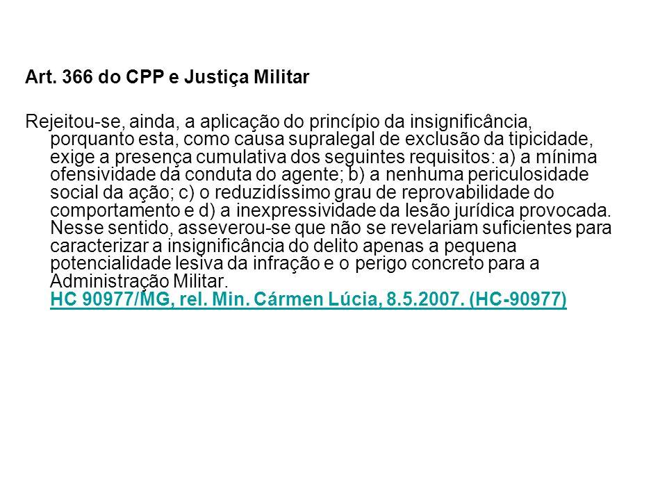 Art. 366 do CPP e Justiça Militar