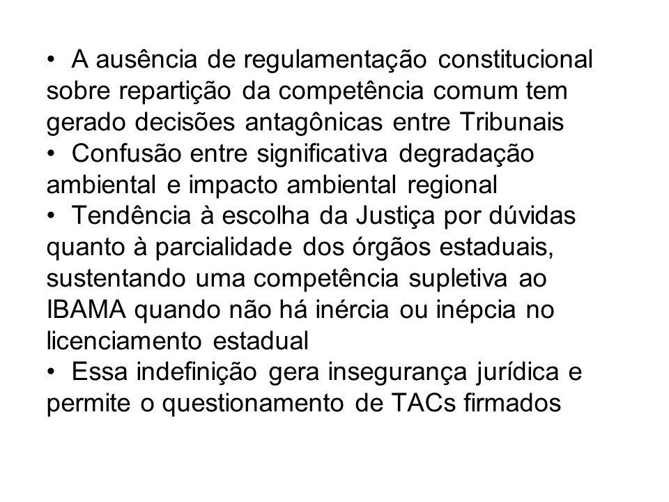 A ausência de regulamentação constitucional