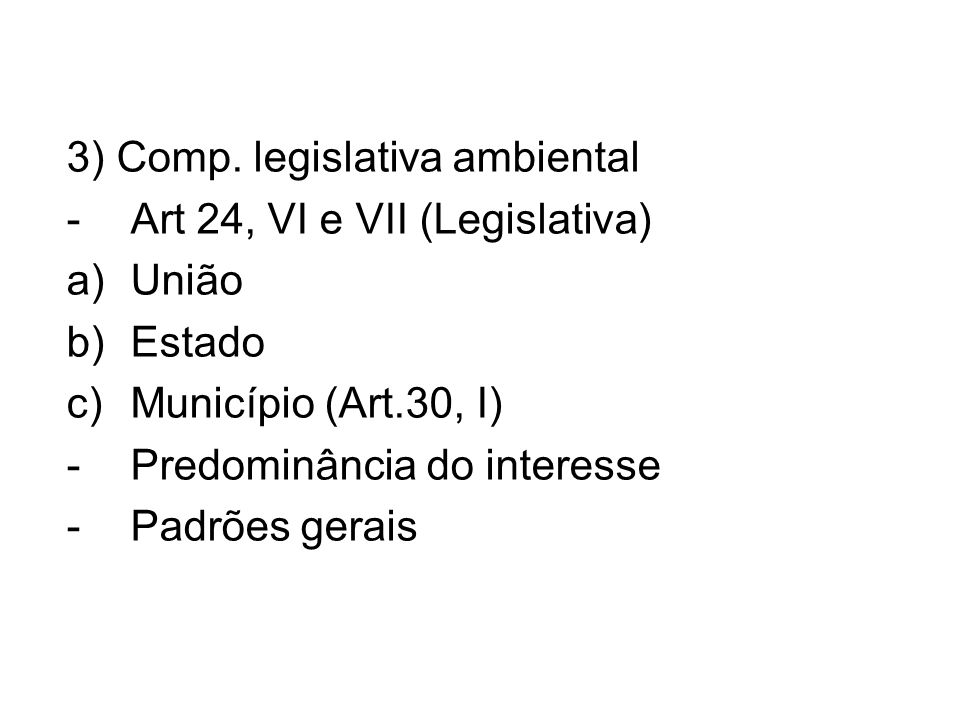3) Comp. legislativa ambiental