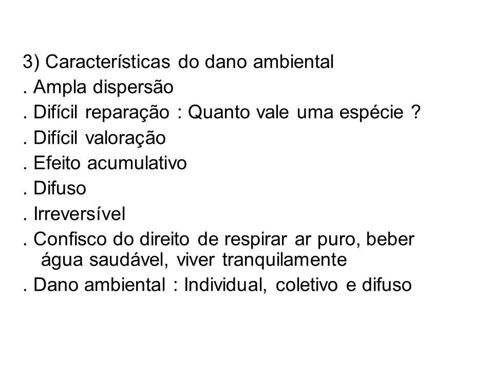 3) Características do dano ambiental